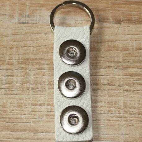 sleutelhanger 3  wit