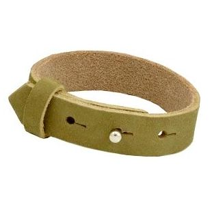 DQ cuoio armband 15mm v 20mm glas