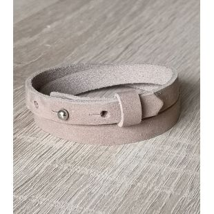 DQ cuoio armband dark jeans  blue dubbel +