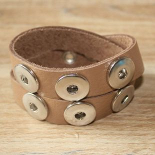 dubbelen band parelmoer taupe 40