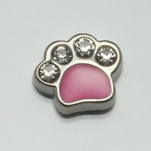 Charm poot strass  rose