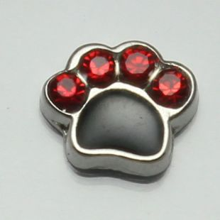Charm poot strass rood