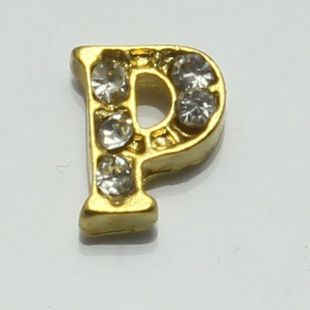 Charm letter O goud