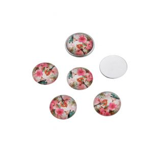 10 x cabochon rond 16mm mix