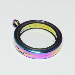 Floating  rond 30mm rainbow