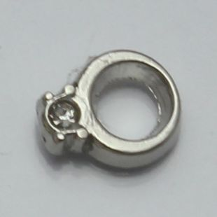 Charm ring silver